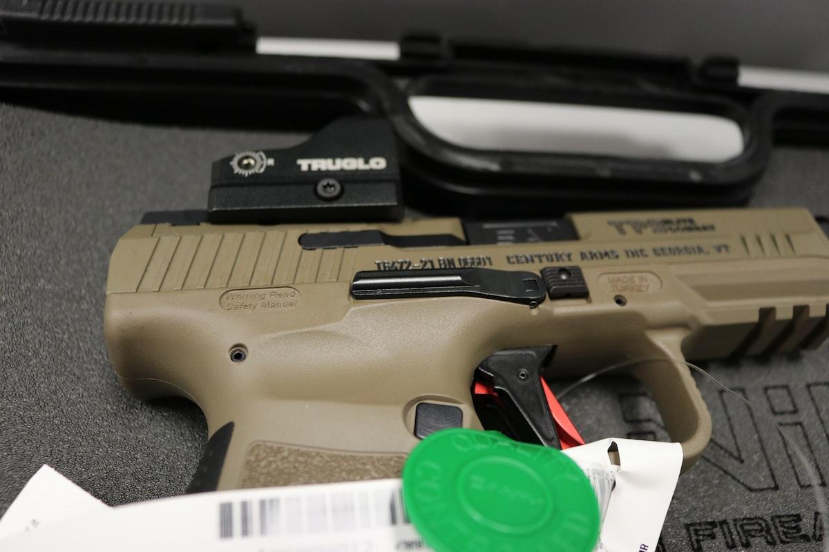 "CANIK Century HG6481DN Canik TP9 Elite Combat 9mm Luger 4.73"" 18+1 Optics Ready Slide Flat Dark Earth Cerakote with Truglo Red Dot"