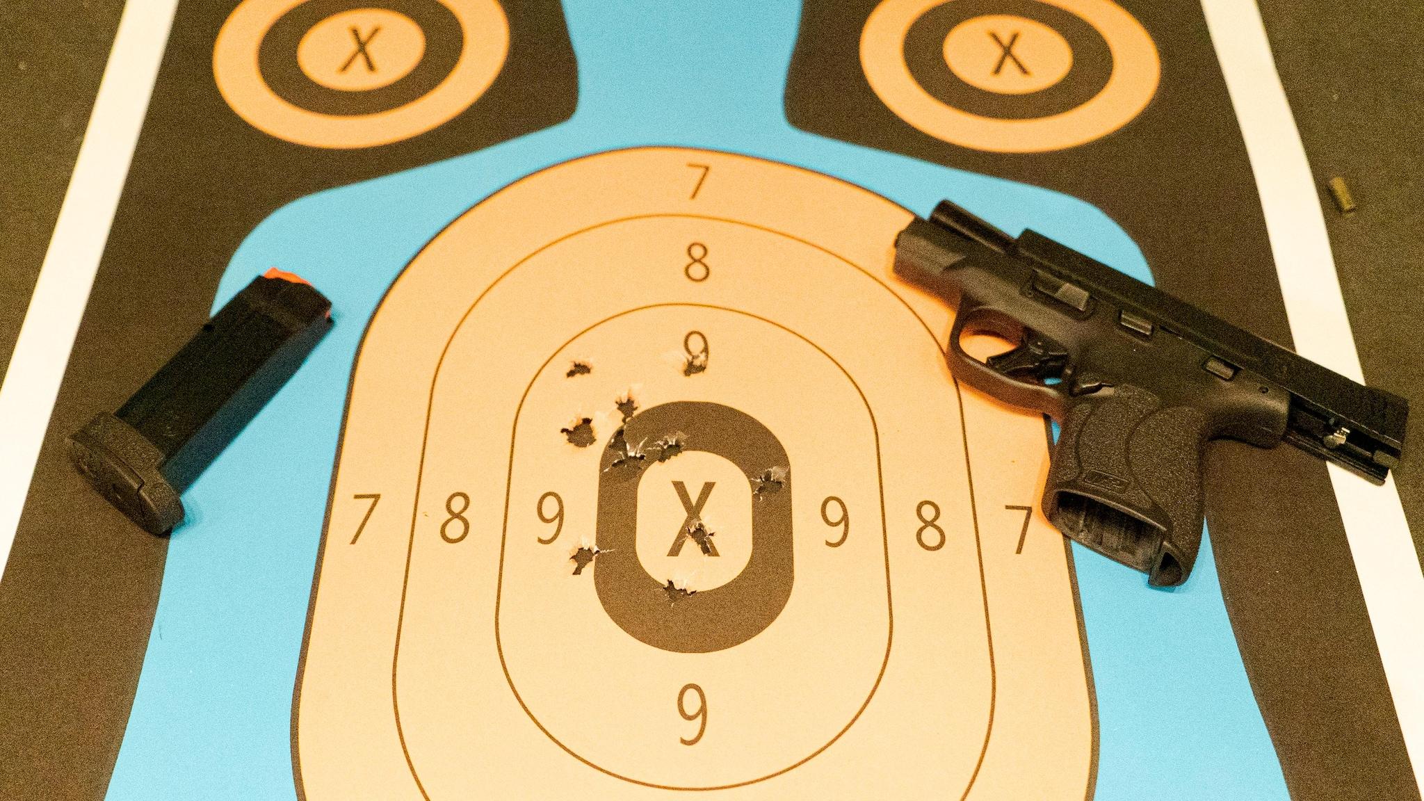 Smith & Wesson M&P 9 Shield Plus Range Target