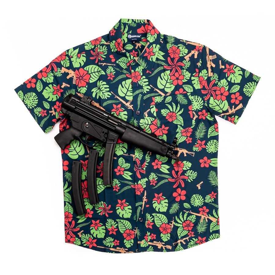 GUNS.COM HAWAIIAN SHIRT
