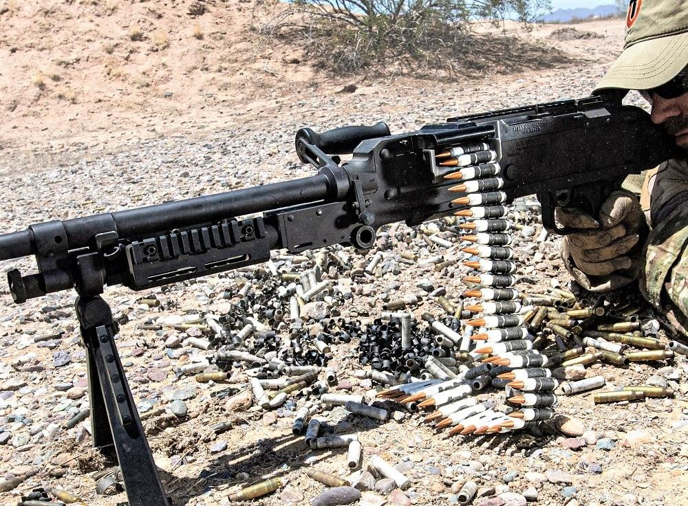 FN M240 firing 6.8mm TVCM rounds