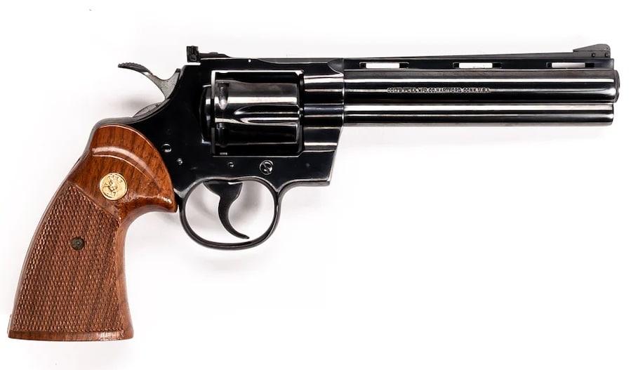 Colt Python 6 inch model in a light box
