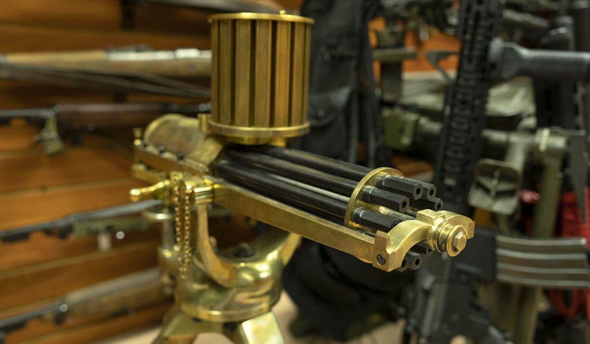 Valley Engraving 1878 22LR Gatling gun