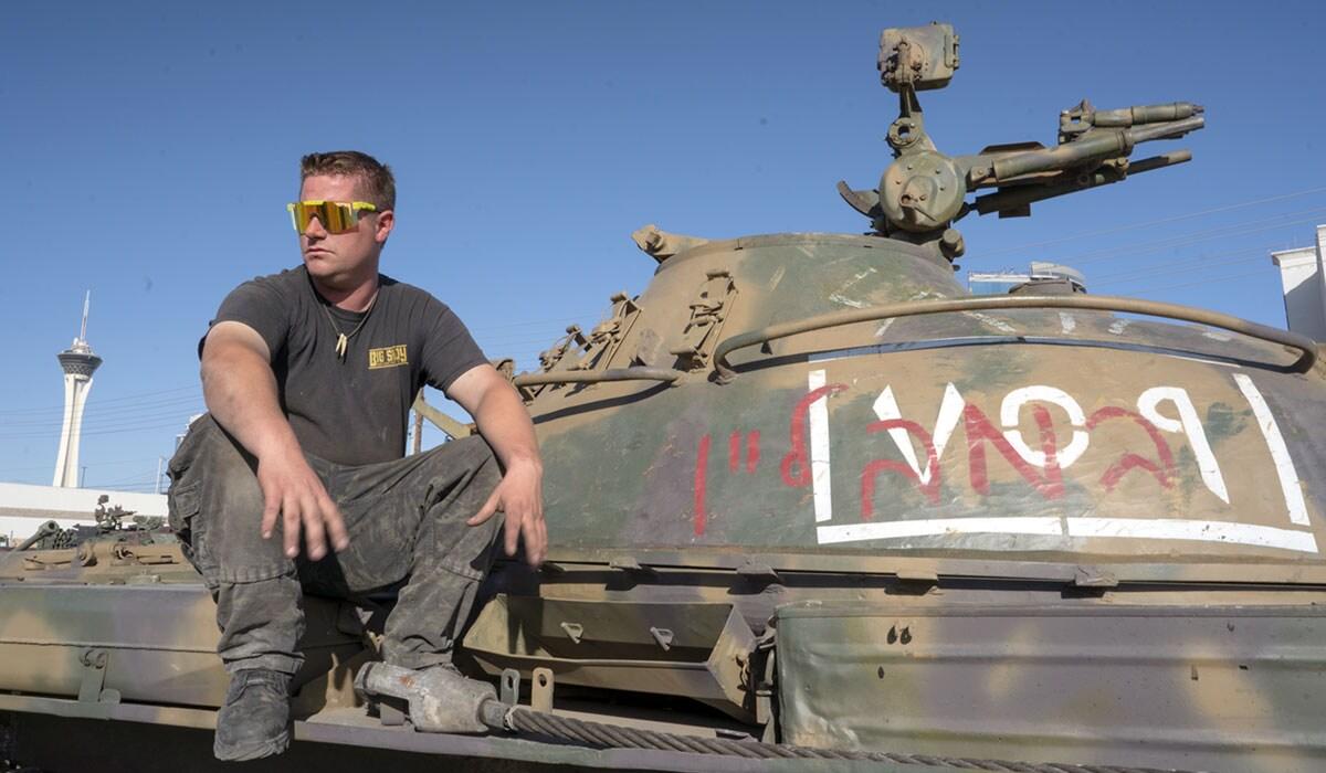 Russian T-62 tank at Battlefield Vegas