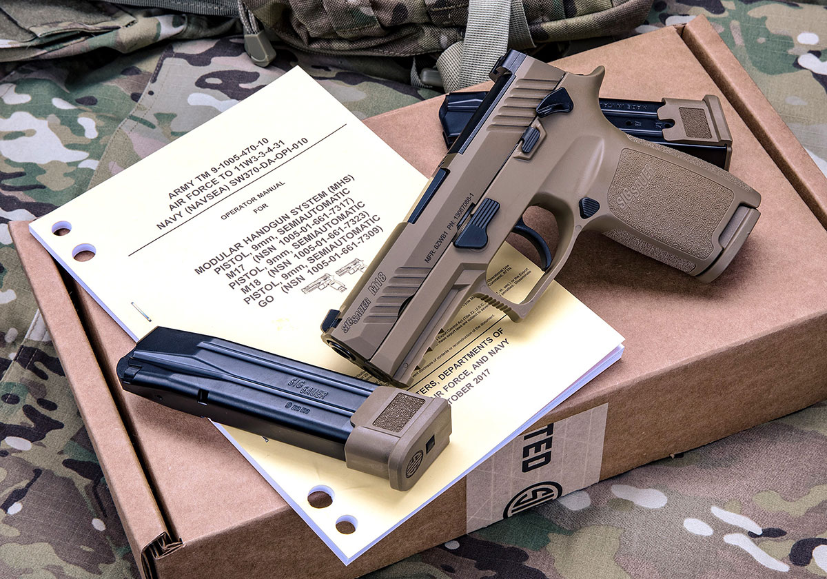 Sig Sauer made M18 MHS handgun