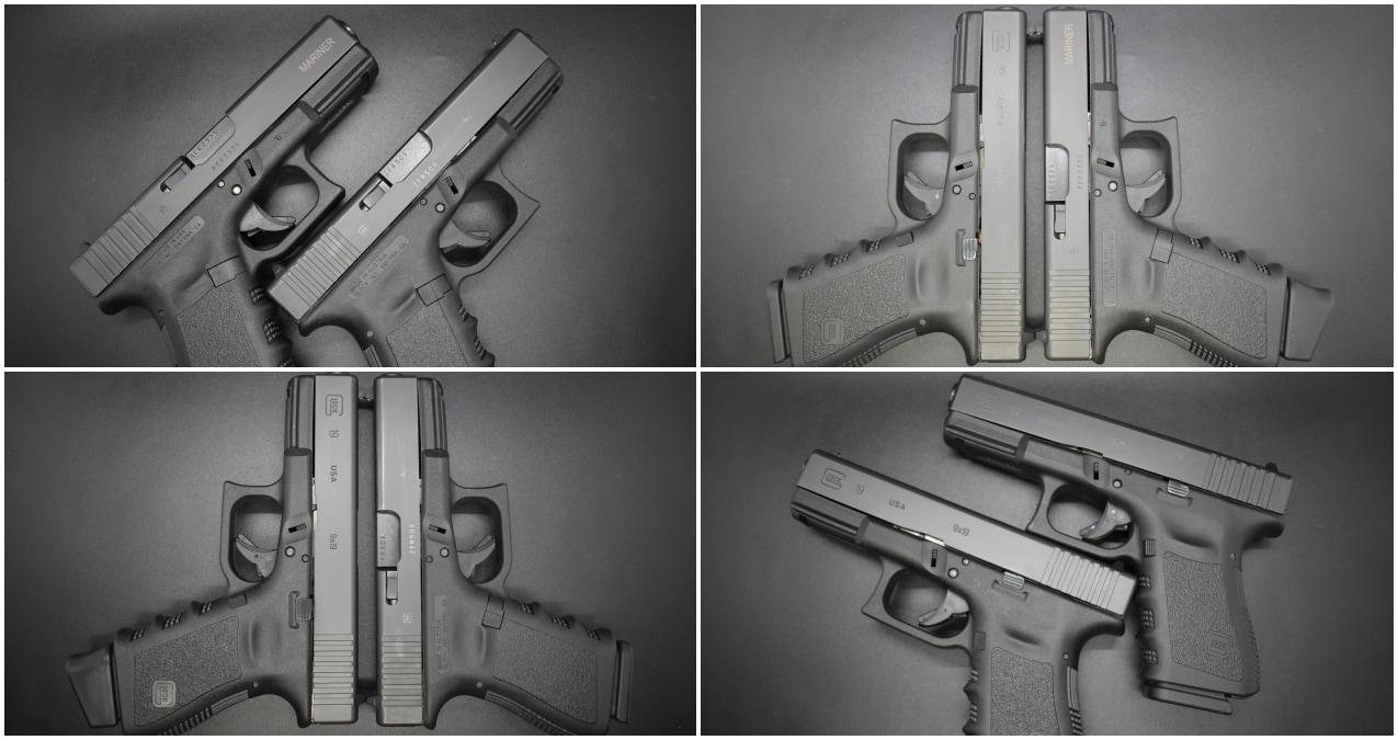 Glock 19 compared to Glock Mariner