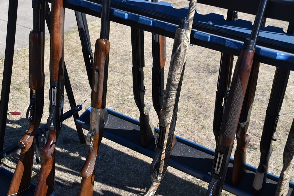 Shotguns at clays competition