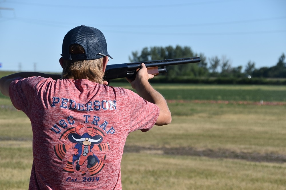 Remington 870 at clays competition