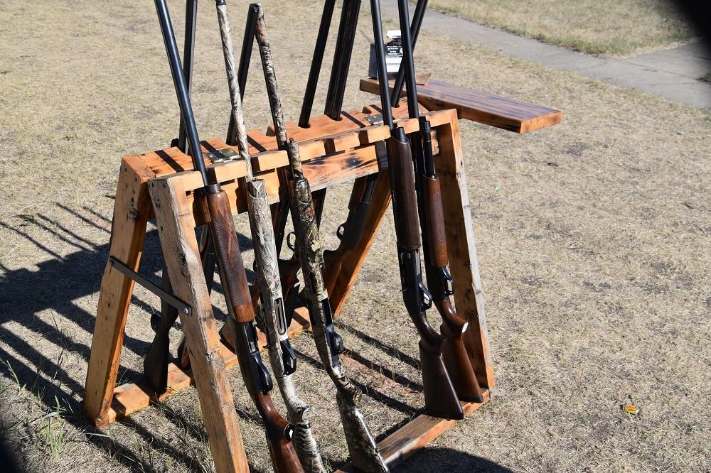 clays competition shotgun rack