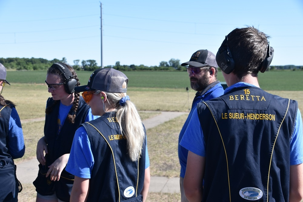 Coach at youth clays competition