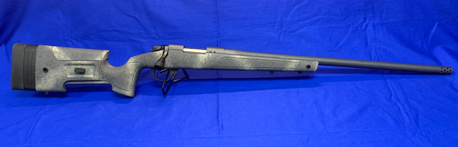 """Bergara Rifles B14SM359 B-14 HMR Wilderness 6.5 PRC 3+1 24"""" Woodland Camo Molded with Mini-Chassis Stock Matte Blued Right Hand"""