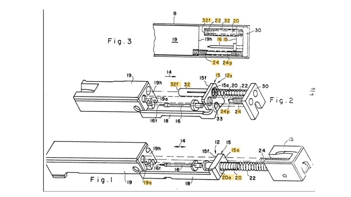 Uzi Semi-Auto Bolt Patent