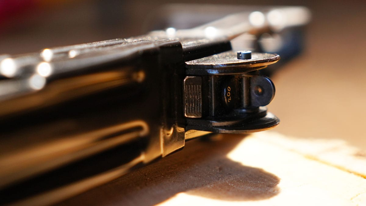IMI Uzi 9mm Rear Sight