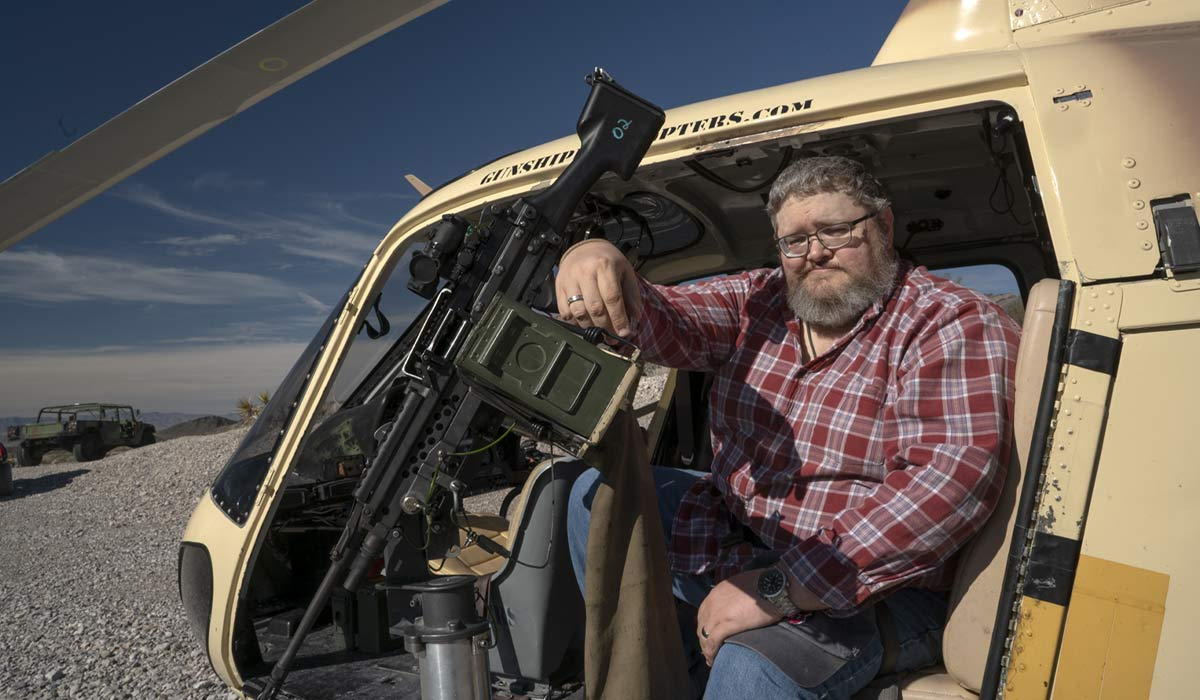 Gunship Helicopters gives civilians the chance to experience being a door gunner, minus any pesky enemy fire