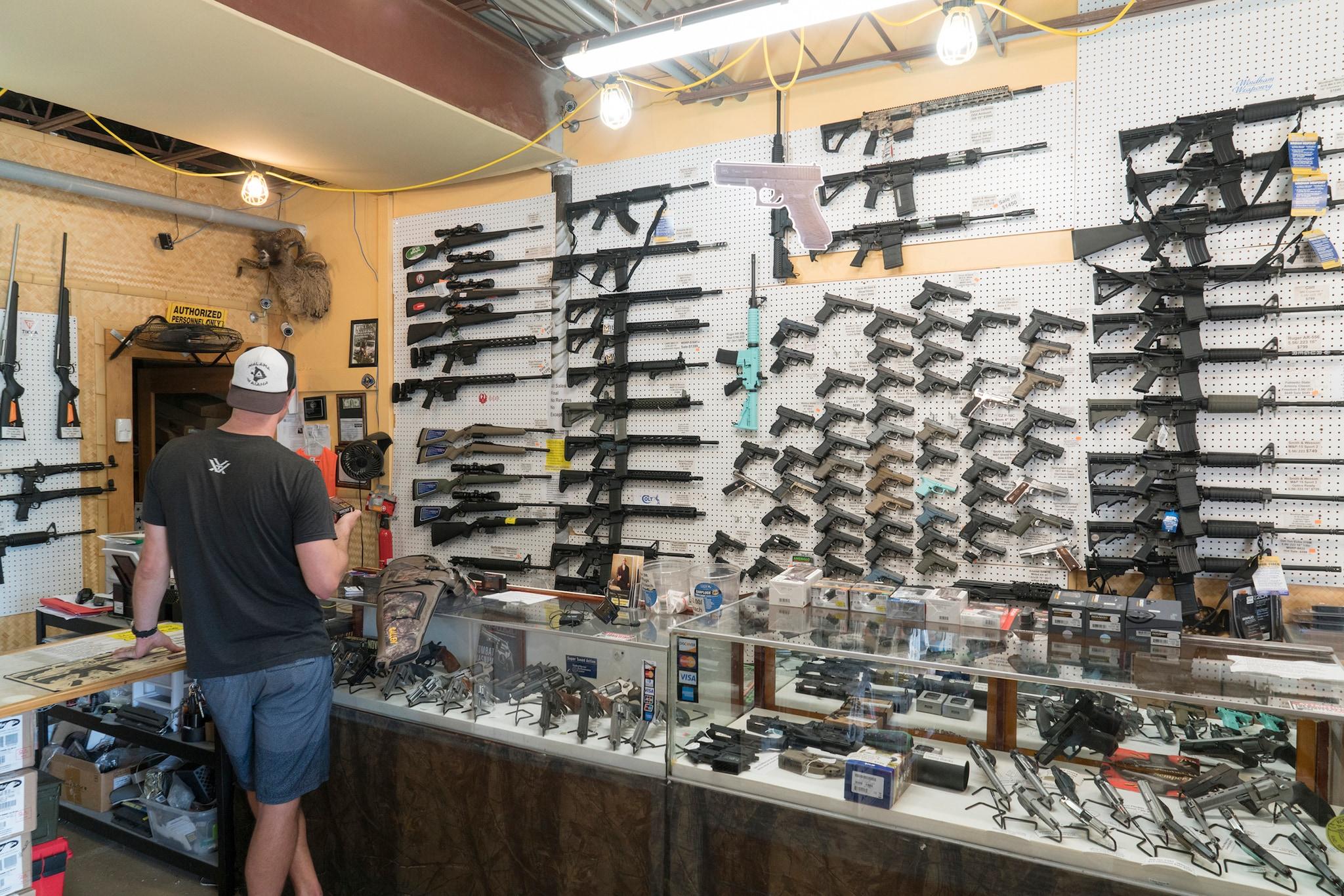 customer in gun shop