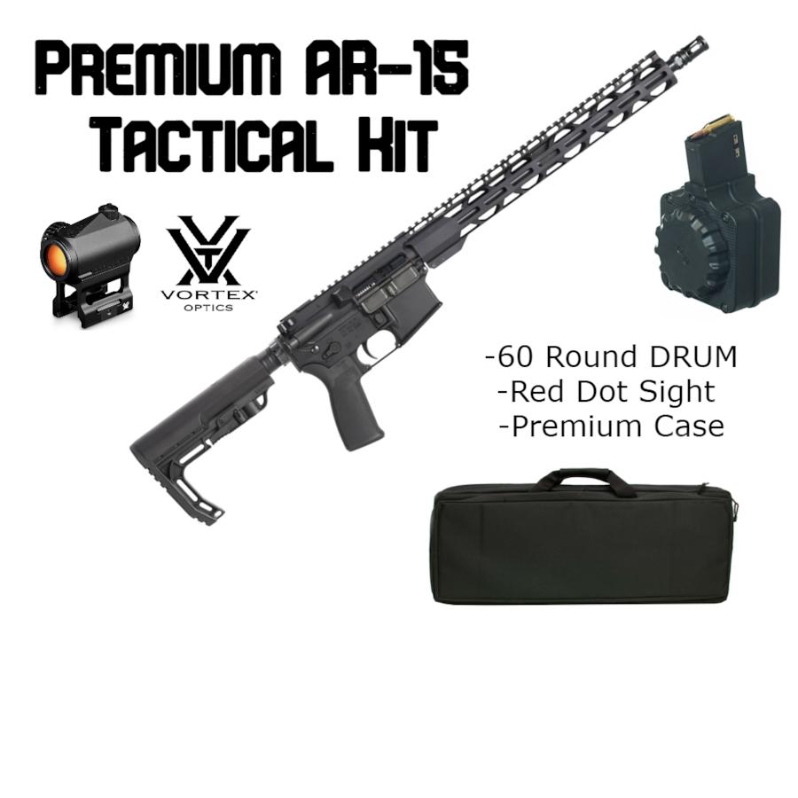 RADICAL FIREARMS BRAND NEW  AR-15 Tactical Bundle - Vortex Optics, Drum, Discreet Case