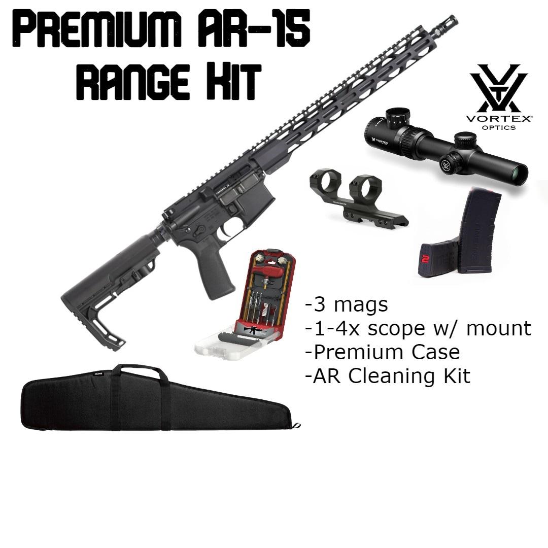 RADICAL FIREARMS Brand New AR-15 Range Bundle - Vortex Scope, 3 Mags, Premium Cleaning Kit
