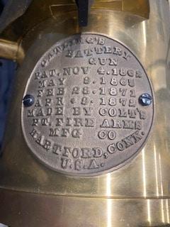 U.S. ARMAMENT CORP. 1877 Bulldog Gatling Gun