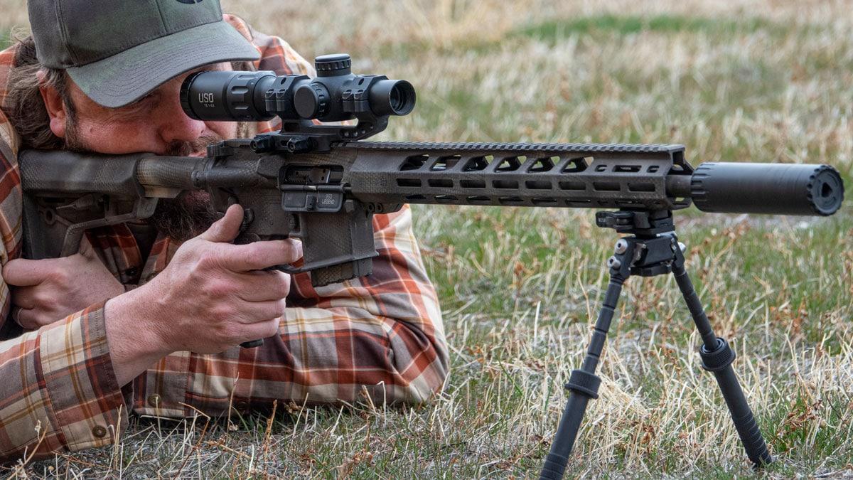 B&T Atlas Bipod On AR Rifle