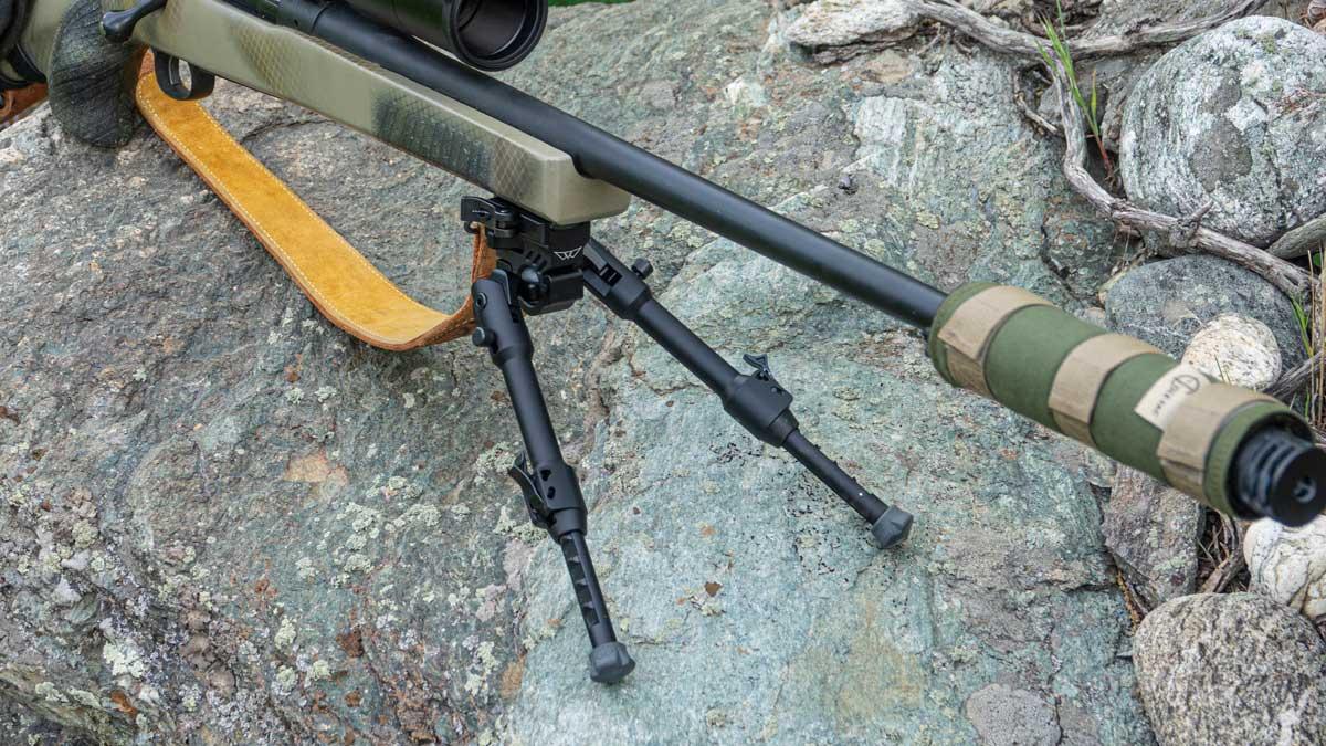 Warne Skyline Bipod on Rifle