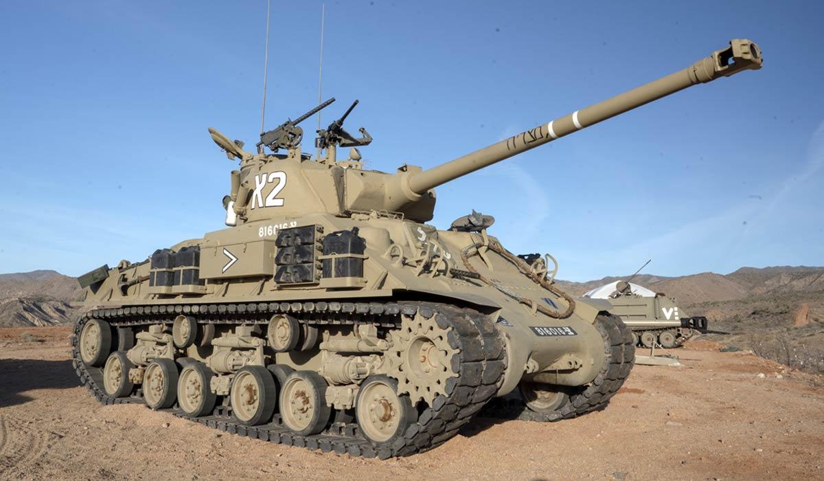 Israeli M-50 Sherman tank big sandy battlefield vegas