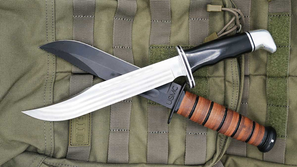 Fixed Blade Knives on Backpack