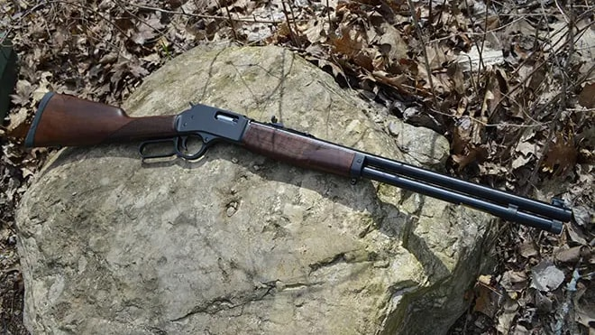 Henry Big Boy Lever Action Rifle On Rock