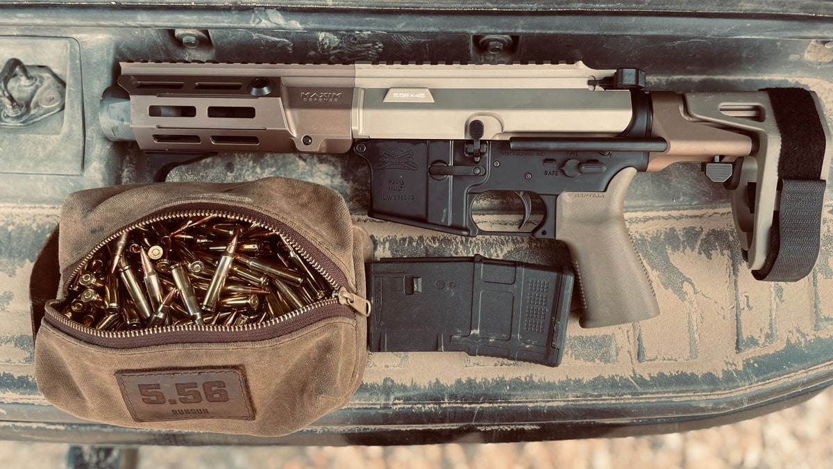 Maxim Defense PDX AR Pistol On Table With Ammo