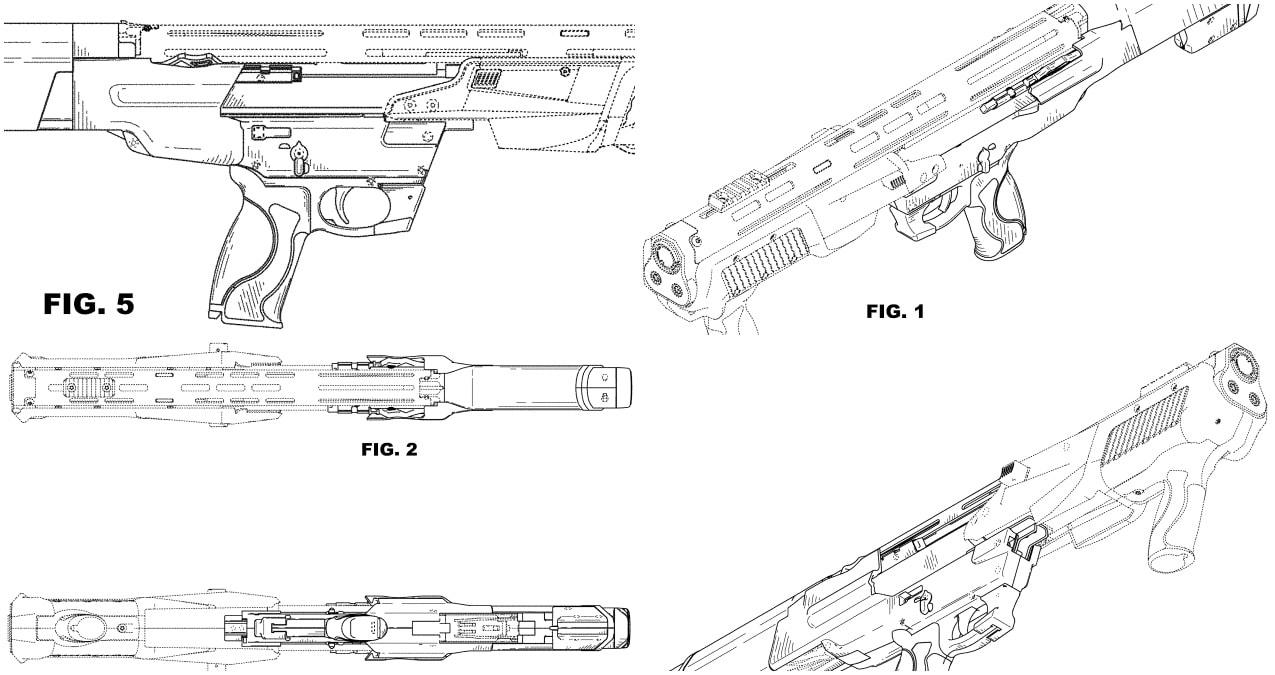 M&P 12 bullpup pump-action tactical 12 gauge.