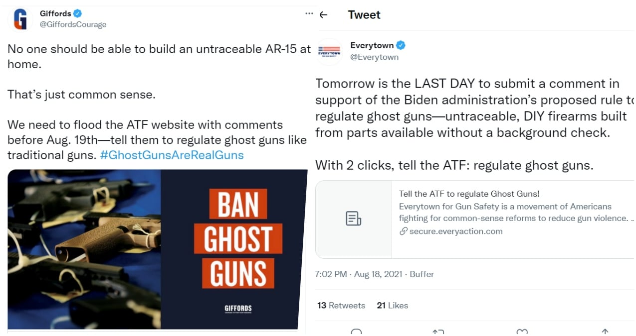 Social media posts on ATF comment period
