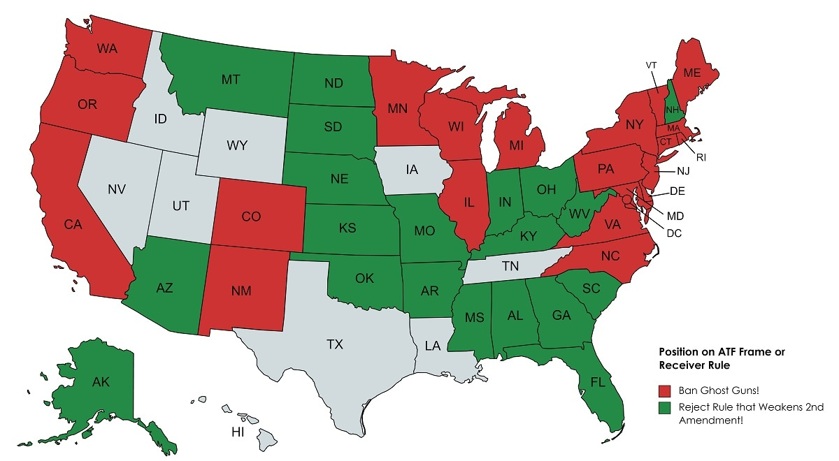 States with attorneys general that made comments on the ATF frame rule
