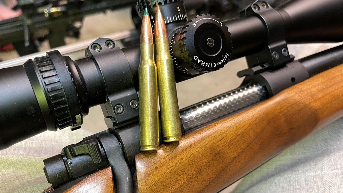 Winchester Model 70 with ammo