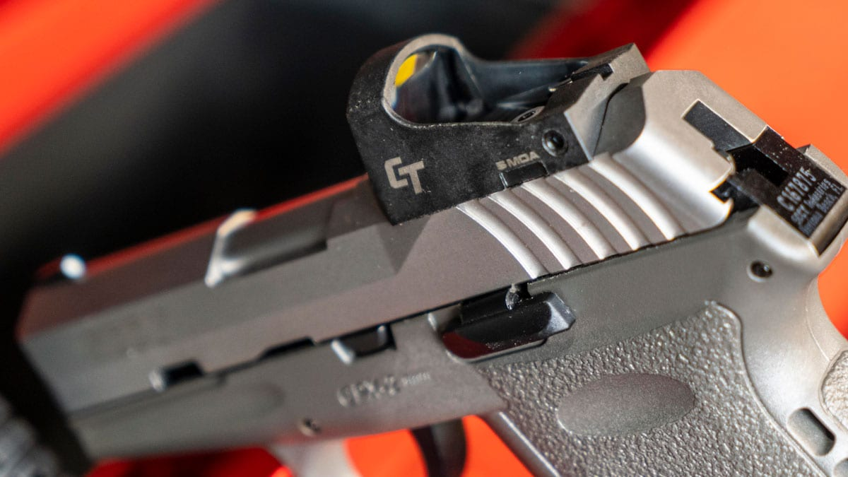 SCCY CPX-2 Pistol with red dot