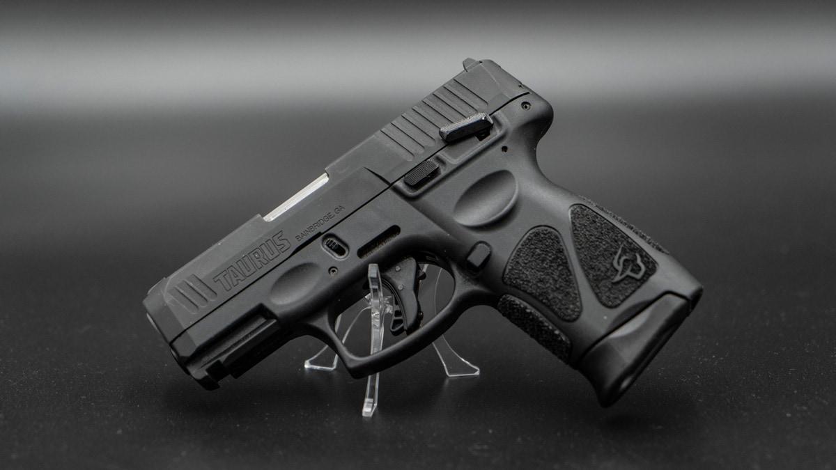 G3c pistol on black background