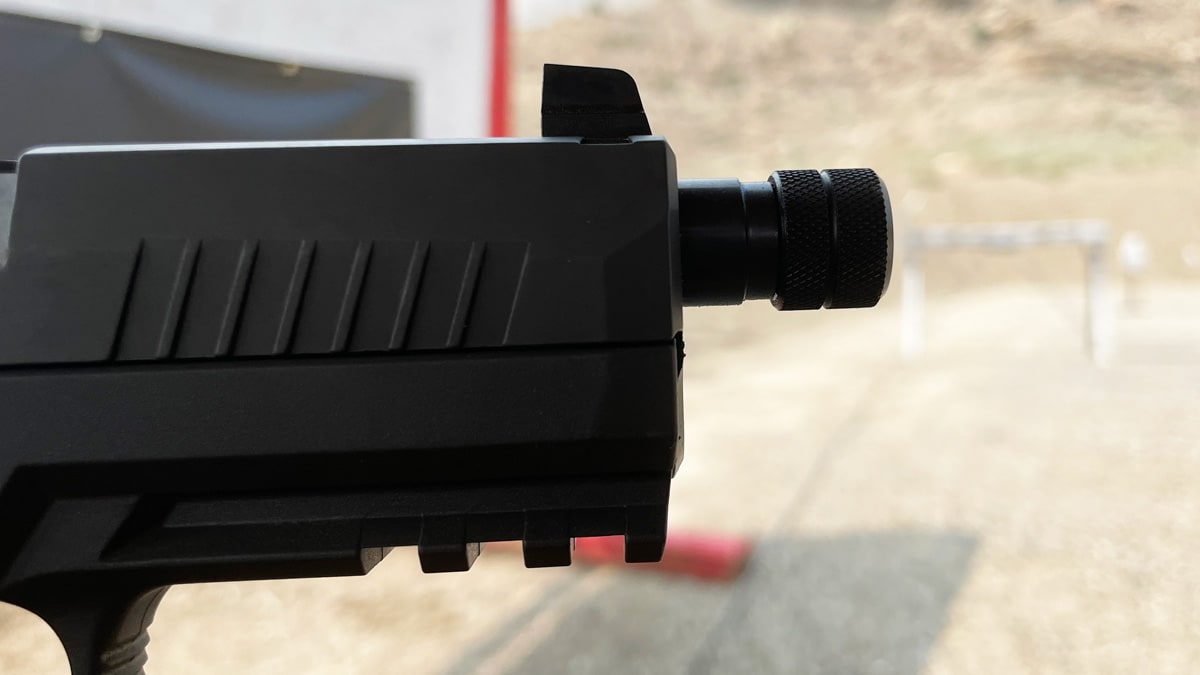 XCarry pistol with threaded barrel