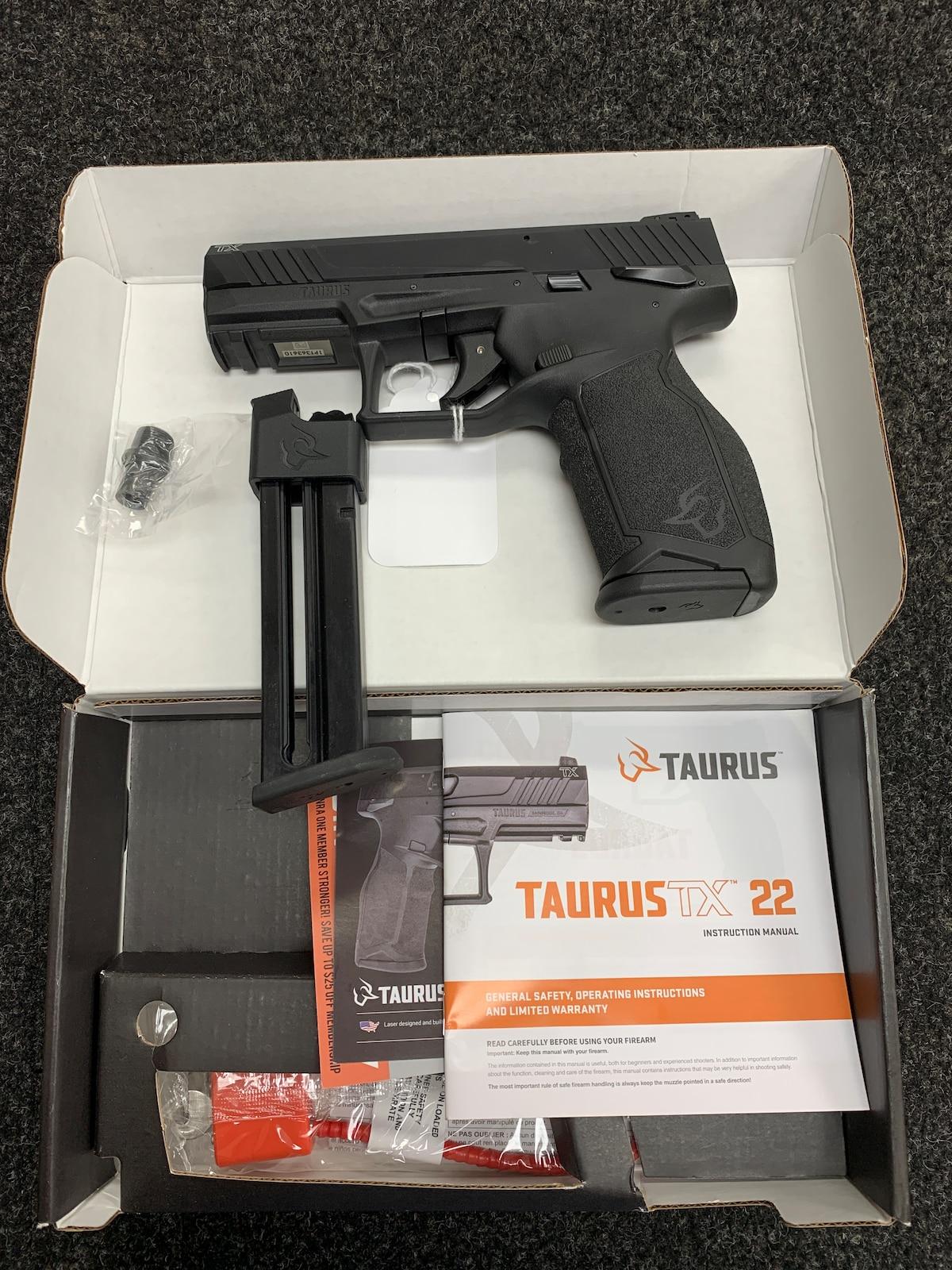 TAURUS TX22 THREADED MODEL TWO 16 RND MAGAZINES