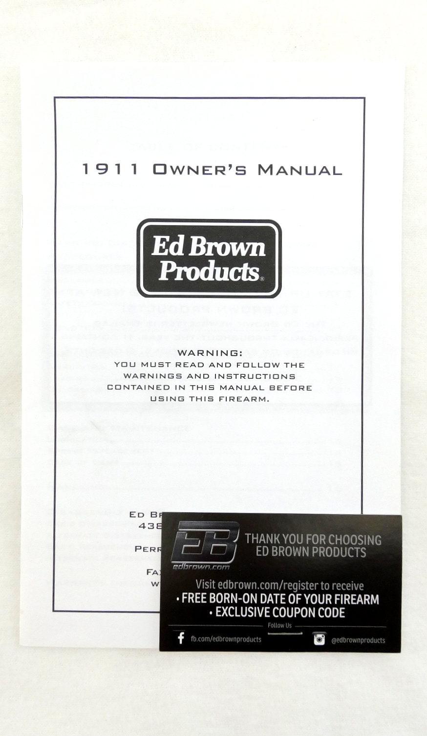 ED BROWN PRODUCTS, INC. 1911 EVO KC9