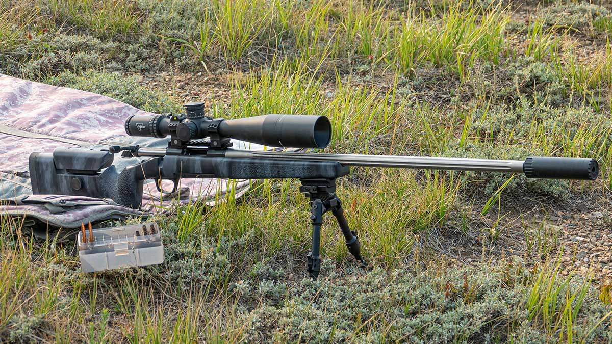 Browning X-Bolt with suppressor at the range