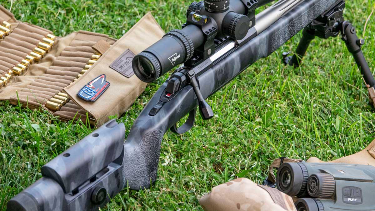 X-Bolt rifle at the range