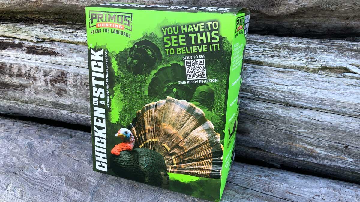 Primos Turkey on a Stick decoy in a box
