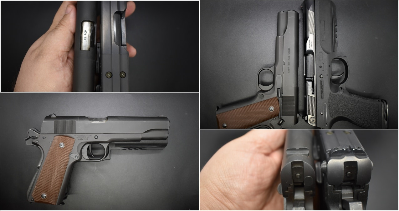 FK Brno PSD Pistol compared to M1911