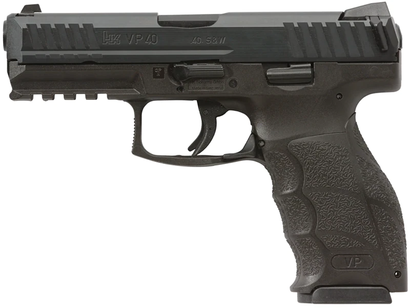 The H&K VP40 comes ready to accept the .40 S&W.