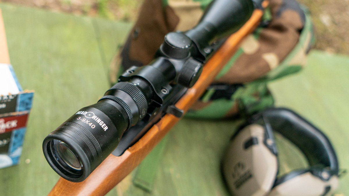 Dead Ringer scope on a 10/22 rifle