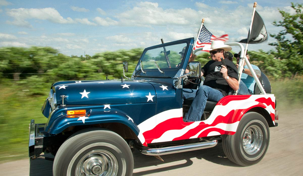 Mark Muller patriotic jeep colt 1911