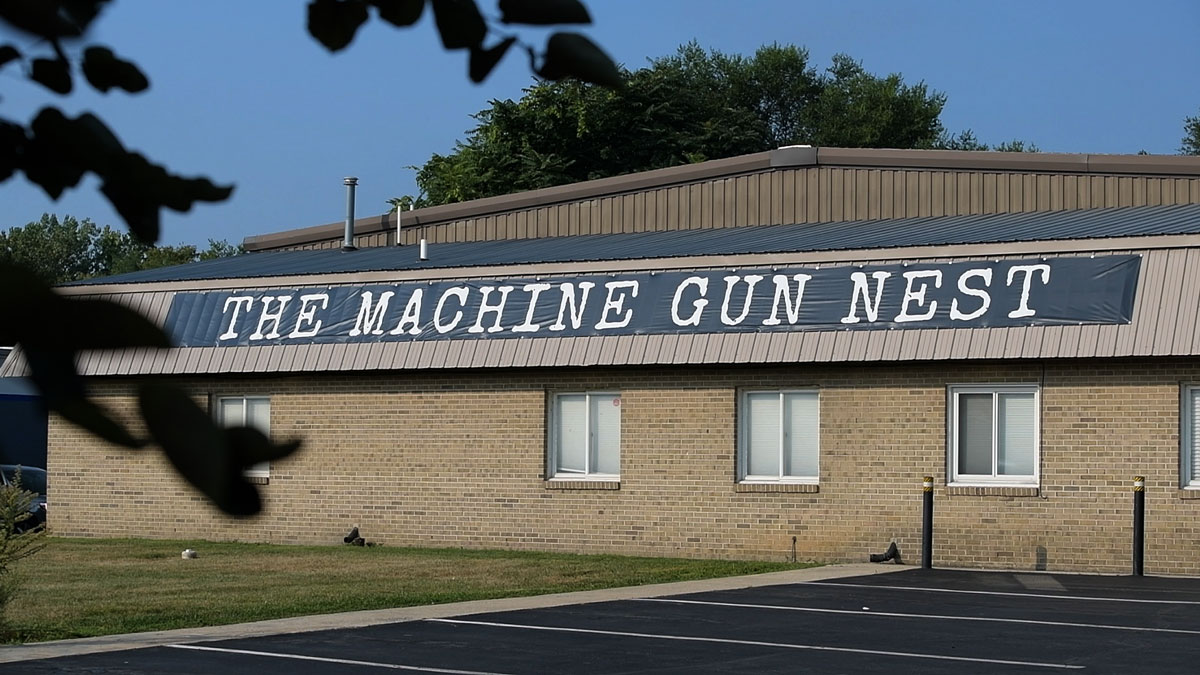 Photo of the sign at The Machine Gun Next range
