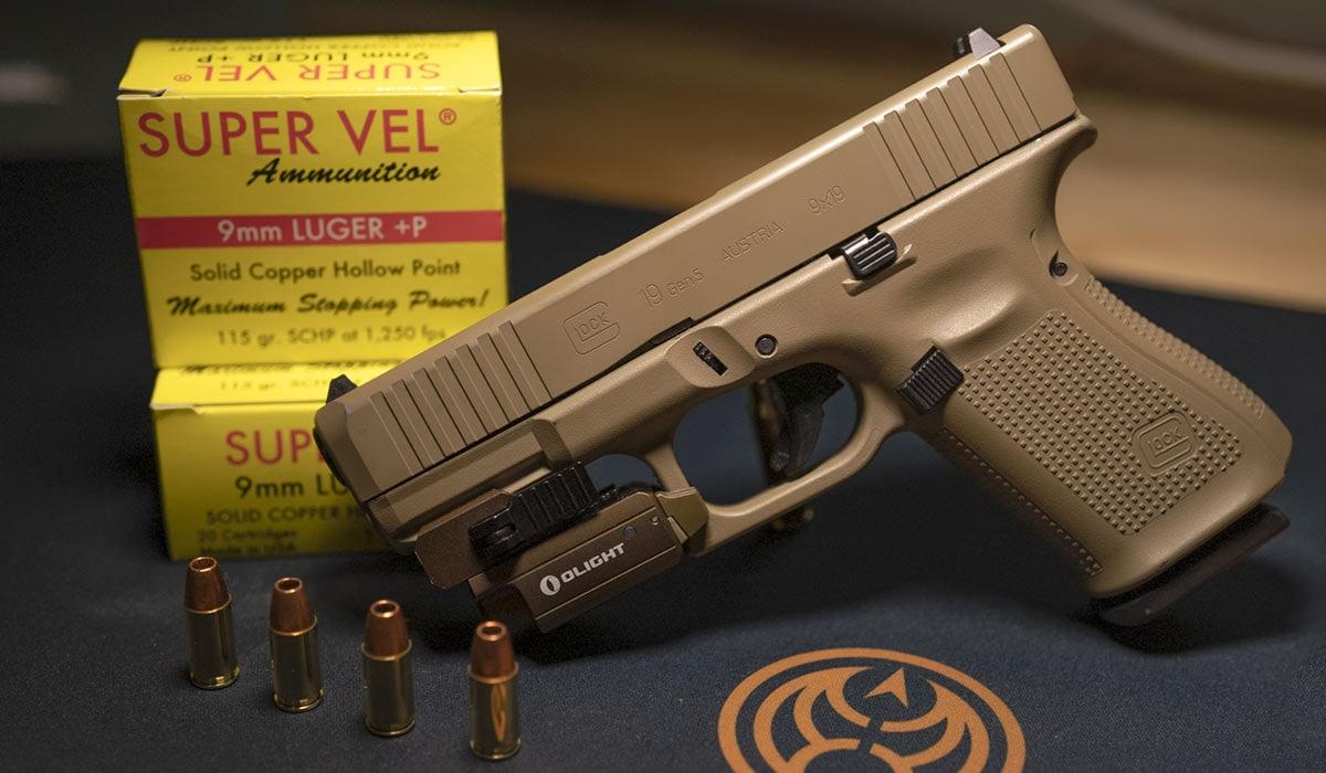 Glock G19 9mm handgun pistol supervel