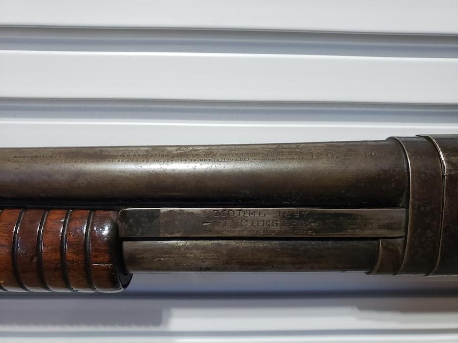 """WINCHESTER Model 1897 Slide Action """"E"""" Series Takedown Slam Fire Hammer C&R"""
