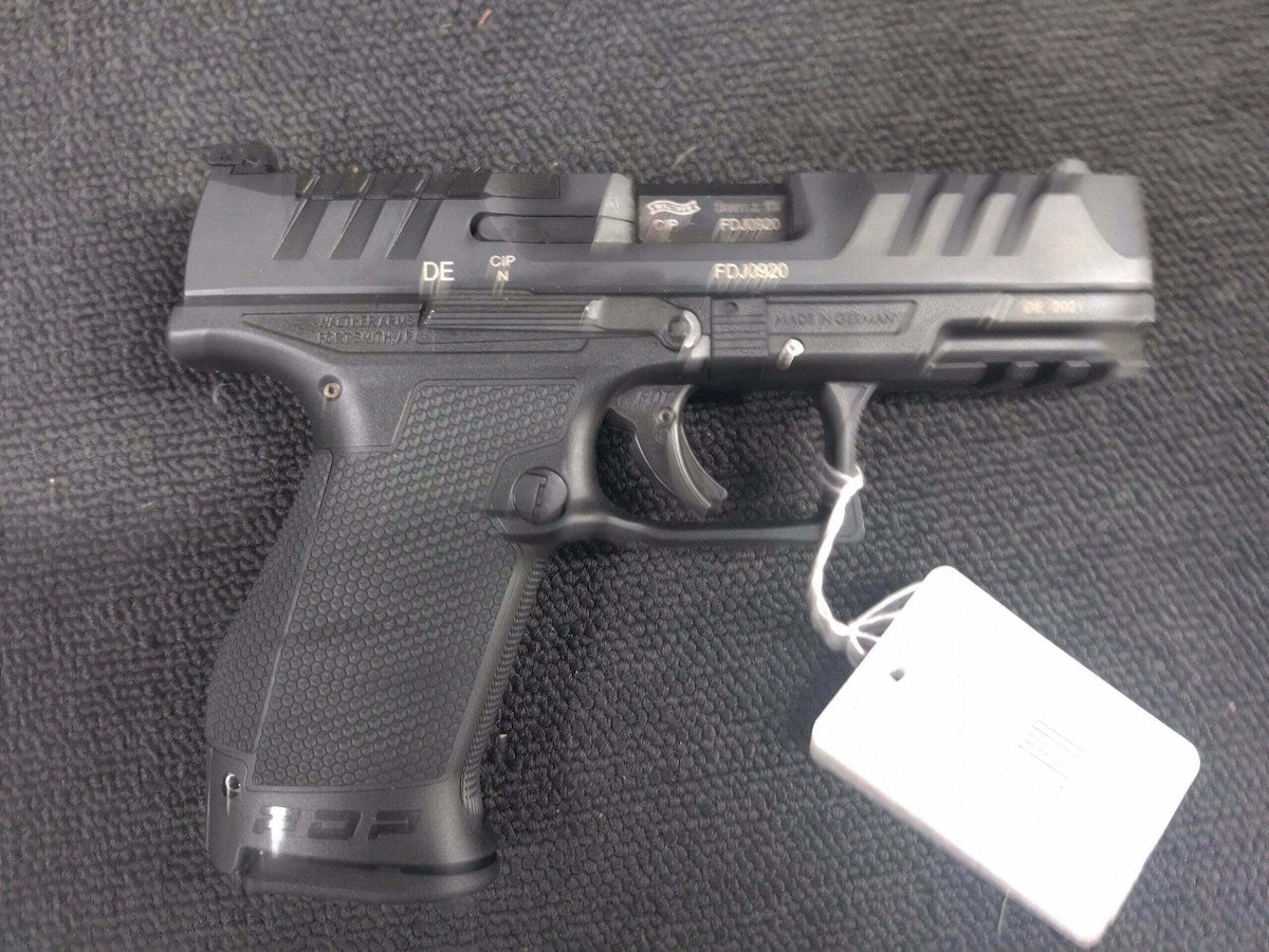 WALTHER PDP 4in w/2 Mags, Case, Speedloader