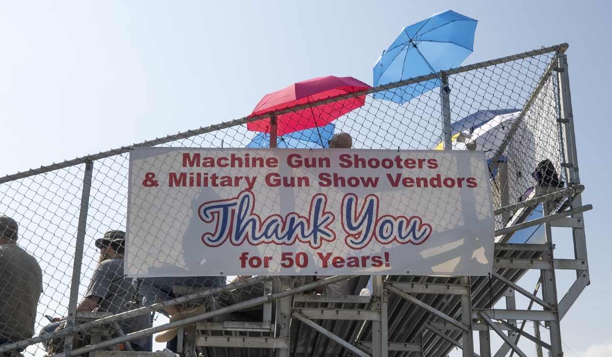 Knob Creek range machine gun shoot night shoot