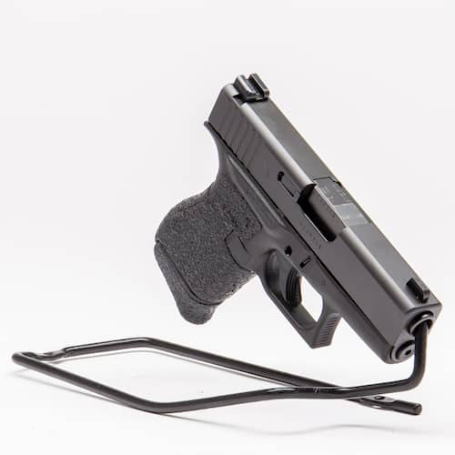 certified used glock handgun in black