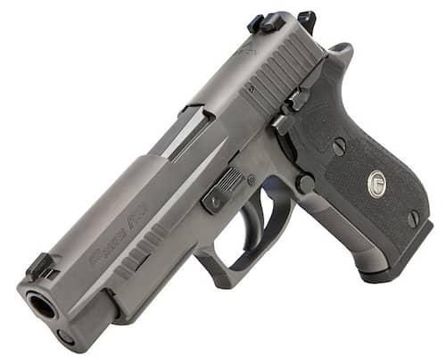 Sig Sauer 220R510LEGIO P220 Full Size Legion Grip Gray PVD Stainless Steel Slide 45degrees.jpg